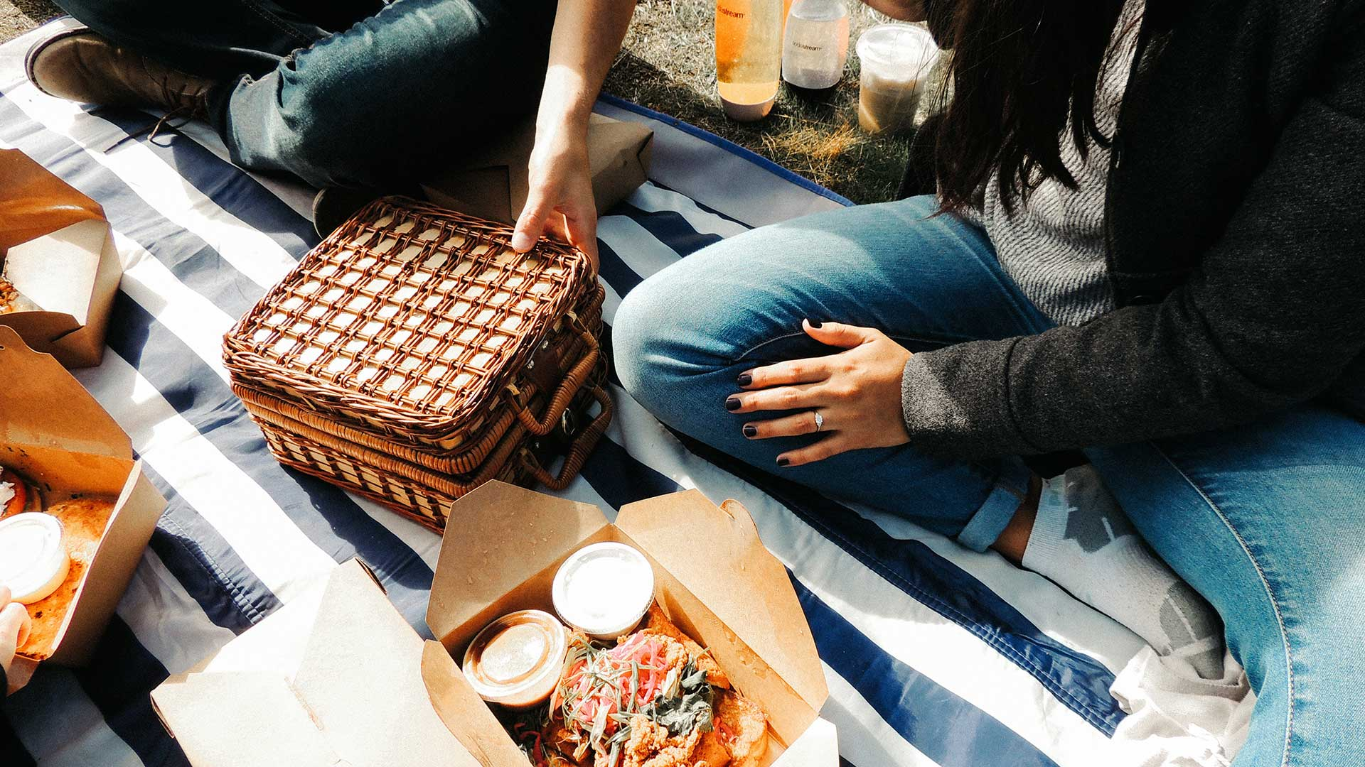 Picnic with food waste