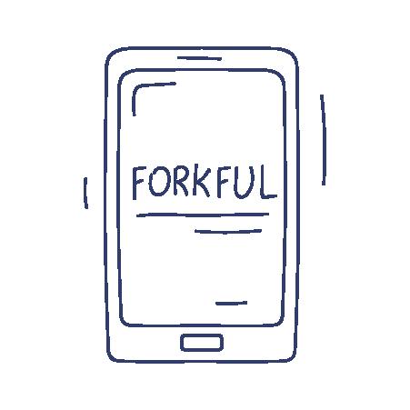 Illustration of Forkful food waste mobile app